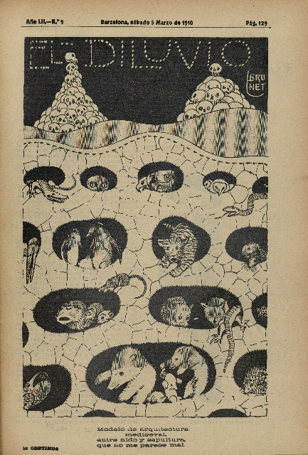 La Pedrera mocked in «El Diluvio» Magazine (March 5th, 1910)